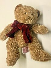 Russ Gund Bear Christmas 8 in Beige Teddy Bear with Bow Us Seller Free Shipping
