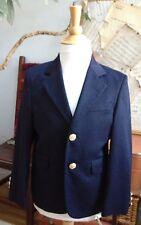 Boys Navy Blazer Jacket HART SCHAFFNER MARX Suit Coat Brass Buttons SPECIAL 5 6