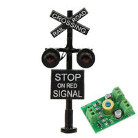 1X N Scale Crossing Railroad Signal Stop on Red 2 heads Circuit board flasher