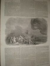 Balloon trip with Charles Green Pirbright common Guildford 1852 print ref AV