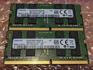 16GB x 2 (32GB) Samsung DDR4-2400T Laptop Memory PC4-19200