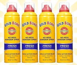 4 Gold Bond Powder Spray Fresh Scent w/ Aloe 7 OZ