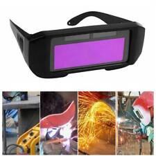 Solar Powered Auto Darkening Welding Helmet Eyes Welder Glasses Black Frame US