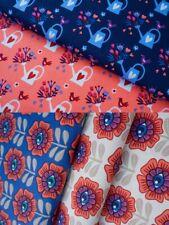 Garten Blumen Canvas orange Hamburger Liebe Baumwolle Meterware Baumwollstoff