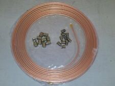 COPPER BRAKE PIPE HOSE LINE 25FT 3/16 4.76MM 2 ROLL + 20 NUTS FEMALE / MALE 10MM
