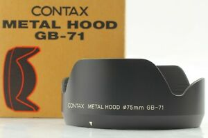 【BOXED TOP MINT】 Contax Metal Hood GB-71 For Distagon 45mm f/2.8 Lens from JAPAN