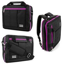 """Black/Purple Laptop Messenger Backpack Bag for Samsung 550R5L-Z 300E5K-L0X 15.6"""""""
