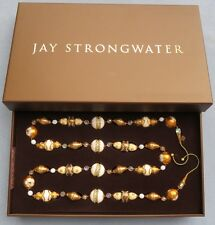 Jay Strongwater Golden Festive Garland Swarovski Elements New In Box