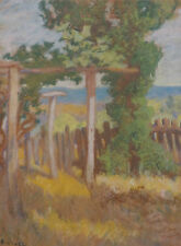 Harold Septimus Power 1878-1951 Australian Pastel Painting Vines Trees SFAA