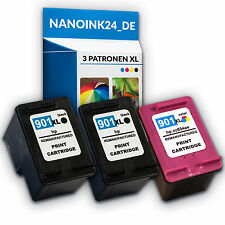 3x Tinenpatronen für HP  901 XL OfficeJet 4500 J4500 J4524 J4540  bei Nano