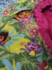 Fleece fabric no sew blanket - Dora the Explorer