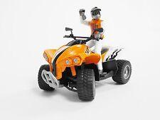 Bruder Sondermodell 2016 Quad orange mit Fahrer Motorrad Bworld Figur Kindertag