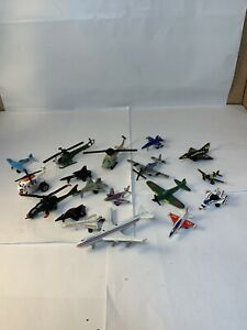 MICRO MACHINES & Other Brands Lot of 18 Military Airplanes Jets Helicopters