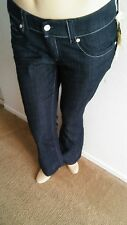 New $70 SEVEN7 Womens Slim-Bootcut Jeans Mid-Rise Embellished Denim Pants Blue