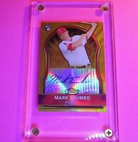 Mark Trumbo 2011 Topps Finest GOLD Refractor Rookie Auto #d /75 Angels RC