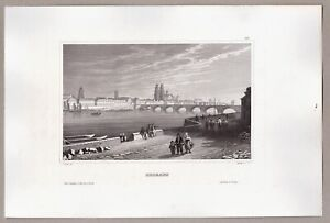Orléans Loire, Frankreich, France - Stich, Stahlstich Martini 1848