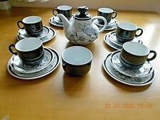 ALFRED MEAKIN SAMOA 20 PIECE TEA SET>1 TEA POT>6 CUPS>6 SAUCER>6 TEA PLATES> SB