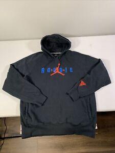 Men's Jordan Carmelo Anthony Hoodie Sweatshirt Size XL Black Cotton Blend