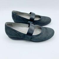 Dansko Womens Sz 40 Comfort Shoes Black Leather Mary Jane Hook & Loop Strap