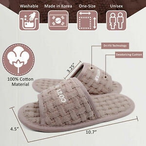 Cozy House Comfortable Indoor Home Slipper Dri-fit Washable Soft One Size Korea
