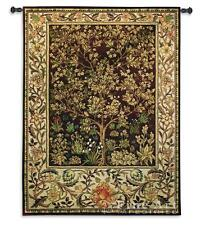 """Tree Of Life Umber Mille Fleur Wall Tapestry - William Morris Design H53"""" x W40"""""""