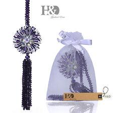Purple Hanging Suncatcher Crystal Peony Prism Beads Pendulum Feng Shui Pendants