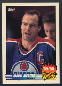 1990-91 Topps Hockey Team Scoring Leaders #16 Mark Messier (Edmonton Oilers)