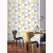 SCANDI GEO TRIANGLE Papier peint jaune/ gris - Arthouse 908206