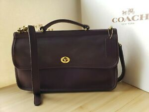 VINTAGE COACH 9153 WILLIS CITY BAG IN MAHOGANY