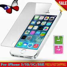 For iPhone 5 5C 5SE Screen Protector Protective Full Cover Tempered Glass 3-Pack