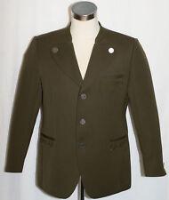 """Loden GREEN Men WOOL German Western Equestrian Winter Suit JACKET Coat / 45"""" L"""