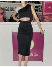 2021 Barbie Looks Fashion outfit black & white top black pants sandals Complete