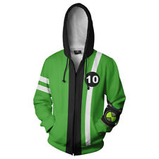 Ben 10 Alien Force Ultimate Omnitrix Inspired Green Zipper Hoodie Jacket Costume