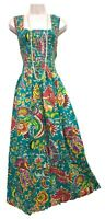GRE Cotton Long Boho Maxi Dress Sleeveless Party Evening Size 14 16 18 20 22 24