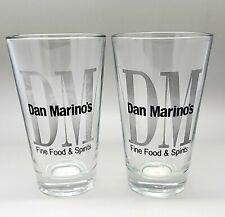 Dan Marino's Fine Food & Spirits Glass Beer Bar Drink-ware Football NFL RARE