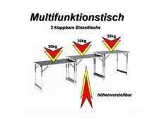 Multifunktionstisch Tapiziertisch Malertisch Mehrzwecktisch Tisch Campingtisch