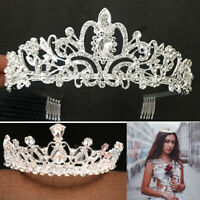 Bridal Wedding Rhinestone Crystal Tiara Hair Band Princess Prom Crown Headband