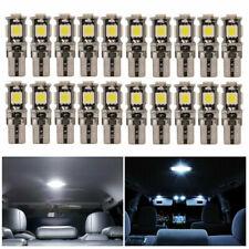 20PCS 5050 LED 5SMD T10 w5w Lumière Interior Voiture Canbus Ampoule MA1312