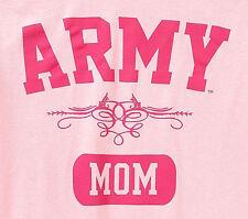 New ARMY MOM  Sz M Pink Short Sleeve Tee Shirt Women's T-Shirt Military Mom