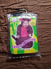 Baby Bunting Size 3-12 Months Cheetah Leopard Cat Halloween Costume Payama new