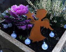 Edelrost zum Stecken ENGEL Beetstecker Gartenstecker Dekoration für Advent 21 cm