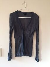 womens witchery cotton and viscose cardigan size S blue/grey