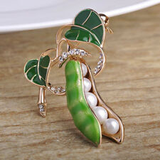 Unisex Fashion Green Pea Pods Personality Siut Decor Party Wedding Brooches Pins