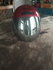 bilt helmet red mirrored shield small