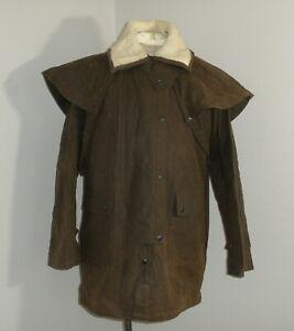 AUSTRALIAN OUTBACK Collection Waxed Cotton OILSKIN DUSTER Coat Jacket Medium