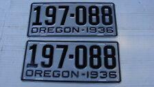 1936 Oregon Restored PAIR License Plates # 197-088