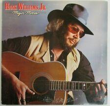 Vintage Vinyl LP Hank Williams, Jr. Major Moves Warner Bros/Curb Records 1984 VG