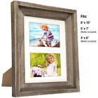Внешний вид - Rustic Barnwood 8x10 Picture Frame Set: 8x10 or 5x7 or 4x6 with included Matte