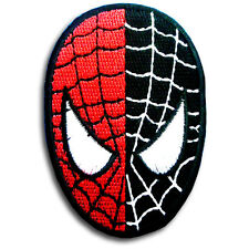 Spiderman Head Super Hero Cartoon Patch Iron on Applique Embroidered Marvel Mask