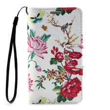 For Samsung Galaxy S4 i9500 Pu Leather Wallet Card Stand Flip Case Cover Peony